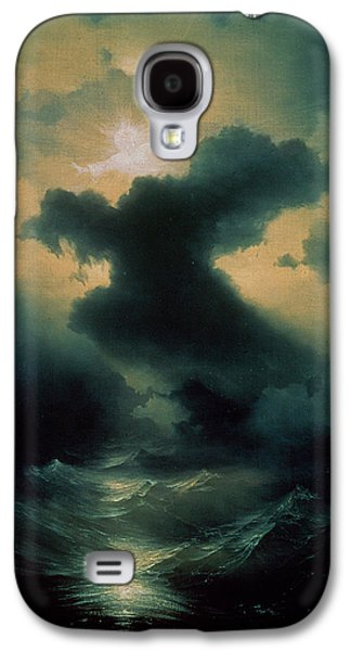 Thunder Paintings Galaxy S4 Cases - Chaos The Creation Galaxy S4 Case by Ivan Konstantinovich Aivazovsky