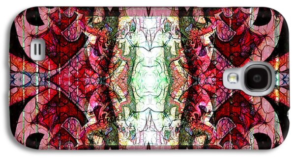 Emergence Galaxy S4 Cases - Chaotic Butterfly Mandala Galaxy S4 Case by Georgiana Romanovna