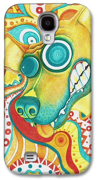 Boxer Galaxy S4 Cases - Chaotic Canine Galaxy S4 Case by Shawna  Rowe