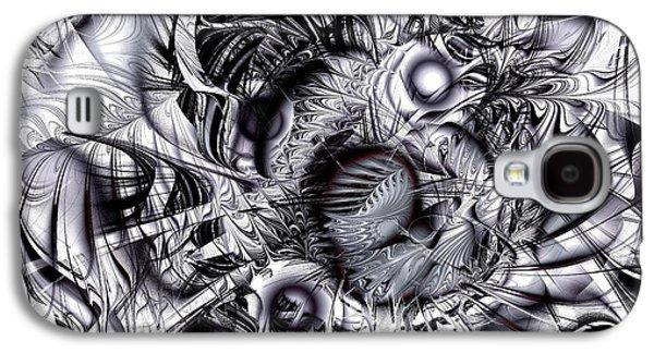 Abstract Digital Mixed Media Galaxy S4 Cases - Chaotic Space Galaxy S4 Case by Anastasiya Malakhova