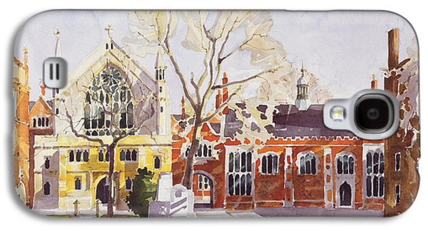 Gothic Galaxy S4 Cases - Chapel and Hall  Lincolns Inn Galaxy S4 Case by Annabel Wilson