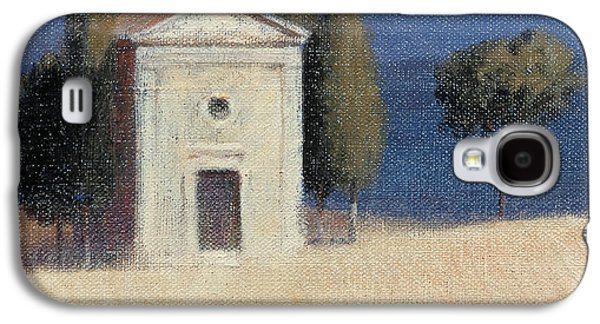 Sienna Italy Galaxy S4 Cases - Chapel Near Pienza Ii, 2012 Acrylic On Canvas Galaxy S4 Case by Lincoln Seligman