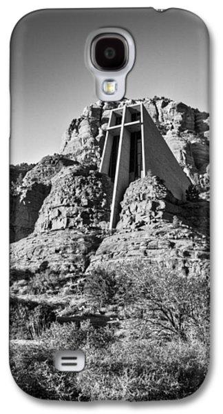 Universities Pyrography Galaxy S4 Cases - Chapel of the Holy Cross of Sedona Galaxy S4 Case by Doug Barnett