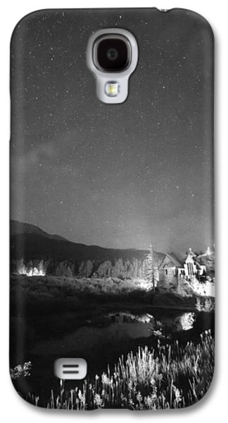 Catherine White Galaxy S4 Cases - Chapel On the Rock Stary Night Portrait BW Galaxy S4 Case by James BO  Insogna