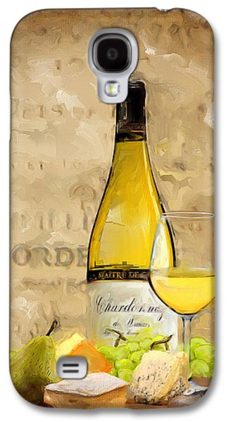 Grape Leaf Galaxy S4 Cases - Chardonnay IV Galaxy S4 Case by Lourry Legarde