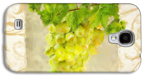 Grape Leaf Galaxy S4 Cases - Chardonnay Galaxy S4 Case by Lourry Legarde