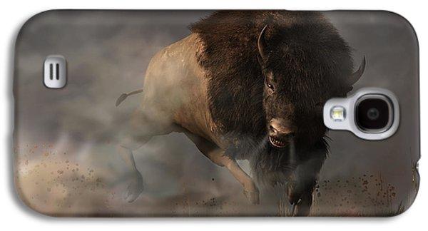 Bison Digital Galaxy S4 Cases - Charging Bison Galaxy S4 Case by Daniel Eskridge