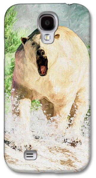 Bear Digital Galaxy S4 Cases - Charging Polar Bear Galaxy S4 Case by Daniel Eskridge