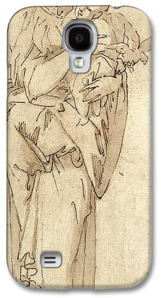 Religious Galaxy S4 Cases - Charity or the Virgin and Child Galaxy S4 Case by Geoffroy Dumonstier