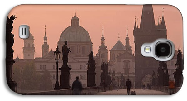 Francis Photographs Galaxy S4 Cases - Charles Bridge At Dusk With The Church Galaxy S4 Case by Panoramic Images
