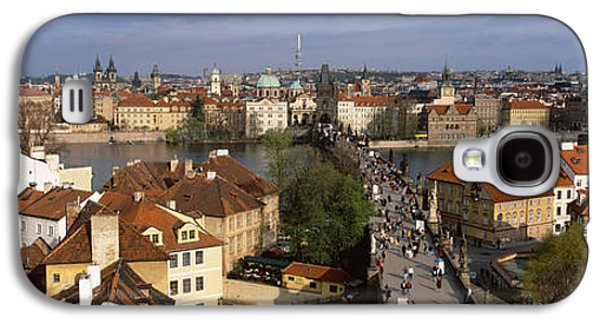 Grey Clouds Photographs Galaxy S4 Cases - Charles Bridge Moldau River Prague Galaxy S4 Case by Panoramic Images
