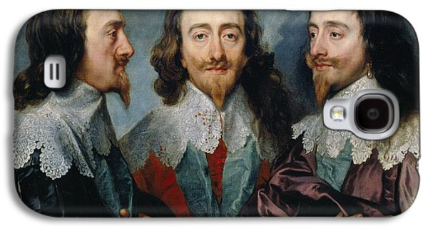 1636 Paintings Galaxy S4 Cases - Charles I Galaxy S4 Case by Anthony van Dyck