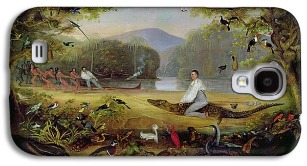 Torn Galaxy S4 Cases - Charles Waterton Capturing A Cayman, 1825-26 Galaxy S4 Case by Captain Edward Jones