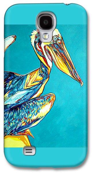 Cambridge Paintings Galaxy S4 Cases - Charleston Pelican Galaxy S4 Case by Derrick Higgins