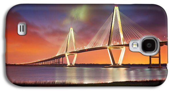 Carolina Galaxy S4 Cases - Charleston SC - Arthur Ravenel Jr. Bridge Cooper River Galaxy S4 Case by Dave Allen