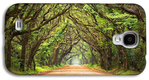 Trees Photographs Galaxy S4 Cases - Charleston SC Edisto Island - Botany Bay Road Galaxy S4 Case by Dave Allen