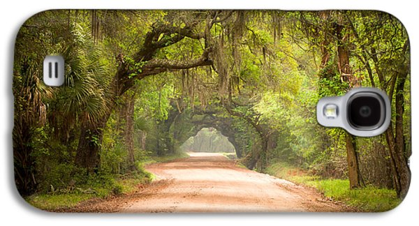 Carolina Galaxy S4 Cases - Charleston SC Edisto Island Dirt Road - The Deep South Galaxy S4 Case by Dave Allen