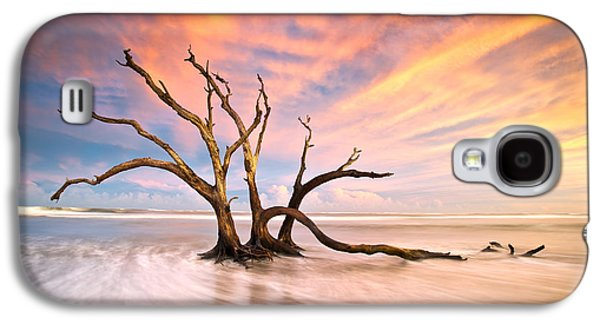 Seaside Galaxy S4 Cases - Charleston SC Sunset Folly Beach Trees - The Calm Galaxy S4 Case by Dave Allen