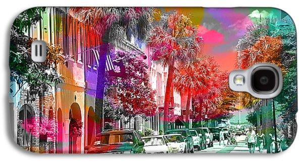 Skylines Galaxy S4 Cases - Charleston South Carolina Skyline  Galaxy S4 Case by Marvin Blaine
