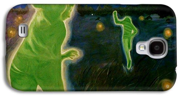 Coldplay Paintings Galaxy S4 Cases - Charlie Brown Galaxy S4 Case by Rachel Faye Elliott