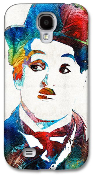 Big Screen Galaxy S4 Cases - Charlie Chaplin Art - Oh Charlie - By Sharon Cummings Galaxy S4 Case by Sharon Cummings