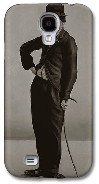 The Kings Paintings Galaxy S4 Cases - Charlie Chaplin Galaxy S4 Case by Paul  Meijering