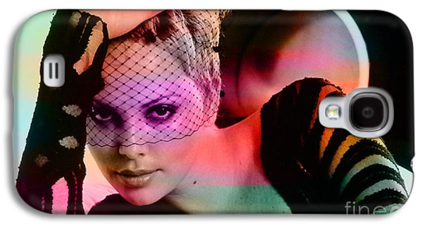 Celebrities Galaxy S4 Cases - Charlize Theron  Galaxy S4 Case by Marvin Blaine