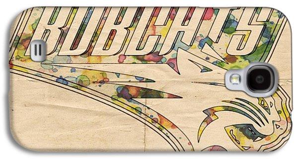 Charlotte Digital Art Galaxy S4 Cases - Charlotte Bobcats Vintage Poster Galaxy S4 Case by Florian Rodarte
