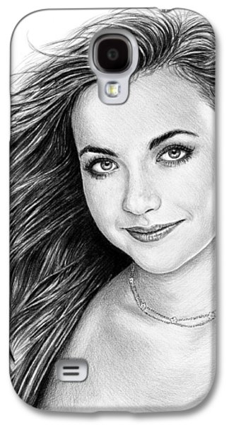 Charlotte Drawings Galaxy S4 Cases - Charlotte Church Galaxy S4 Case by Andrew Read