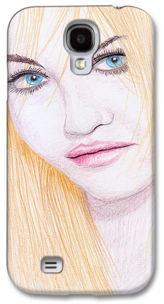 Charlotte Drawings Galaxy S4 Cases - Charlotte Free Galaxy S4 Case by Jose Valeriano