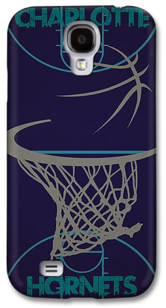 Charlotte Photographs Galaxy S4 Cases - Charlotte Hornets Court Galaxy S4 Case by Joe Hamilton