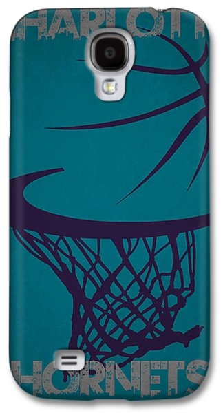 Charlotte Photographs Galaxy S4 Cases - Charlotte Hornets Hoop Galaxy S4 Case by Joe Hamilton