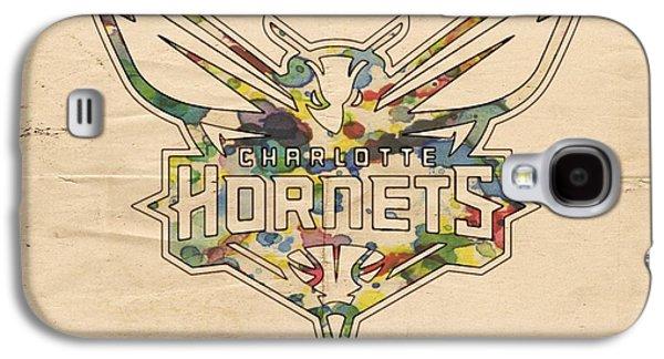 Charlotte Digital Art Galaxy S4 Cases - Charlotte Hornets Logo Art Galaxy S4 Case by Florian Rodarte