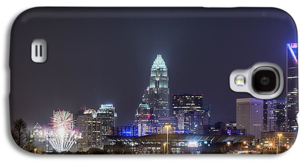 Uptown Charlotte Galaxy S4 Cases - Charlotte / Knights Fireworks Galaxy S4 Case by Brian Young