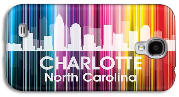 Charlotte Mixed Media Galaxy S4 Cases - Charlotte NC 2 Galaxy S4 Case by Angelina Vick