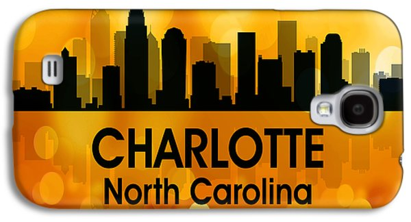 Charlotte Mixed Media Galaxy S4 Cases - Charlotte NC 3 Squared Galaxy S4 Case by Angelina Vick