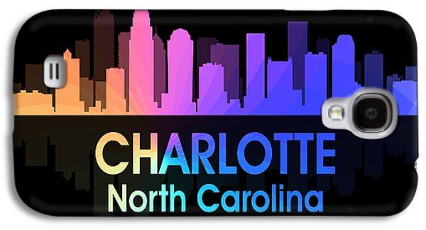 Charlotte Mixed Media Galaxy S4 Cases - Charlotte NC 5 Squared Galaxy S4 Case by Angelina Vick