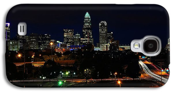Charlotte Digital Galaxy S4 Cases - Charlotte NC at night Galaxy S4 Case by Chris Flees