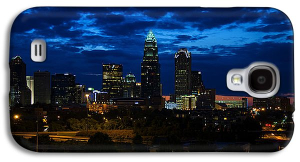 Charlotte Digital Galaxy S4 Cases - Charlotte North Carolina panoramic image Galaxy S4 Case by Chris Flees