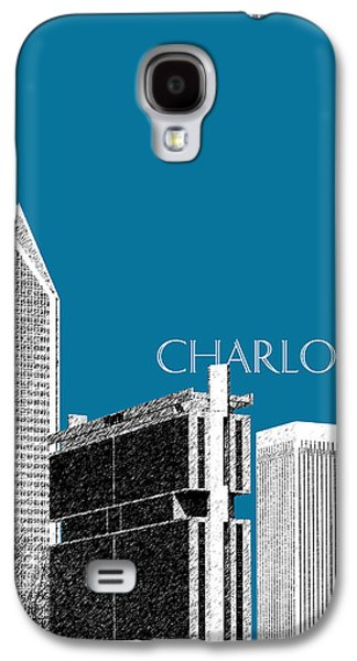 Charlotte Digital Art Galaxy S4 Cases - Charlotte Skyline 1 - Steel Galaxy S4 Case by DB Artist