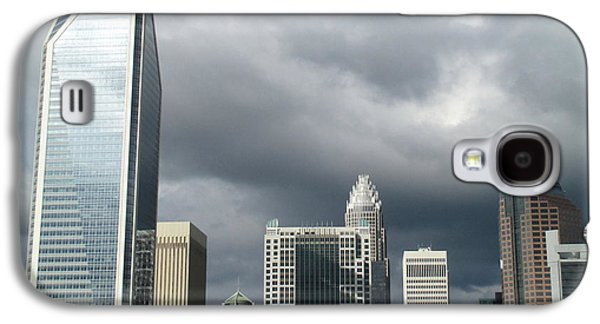Uptown Charlotte Galaxy S4 Cases - Charlotte Skyline Galaxy S4 Case by Randall Weidner
