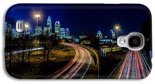 Uptown Charlotte Galaxy S4 Cases - Charlotte Streaks Galaxy S4 Case by Randy Scherkenbach