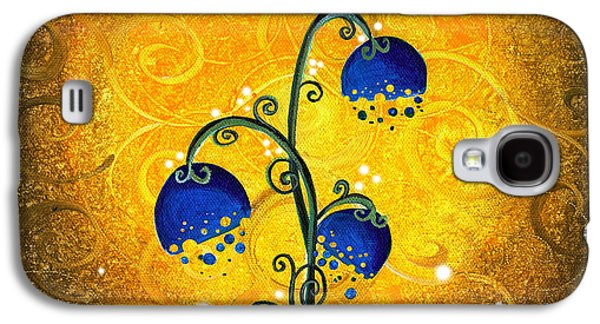 Nature Abstract Paintings Galaxy S4 Cases - Charmed September Galaxy S4 Case by Cindy Thornton
