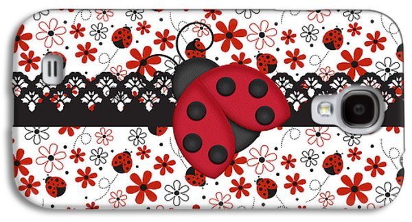 Ladybug Galaxy S4 Cases - Charming Ladybugs Galaxy S4 Case by Debra  Miller
