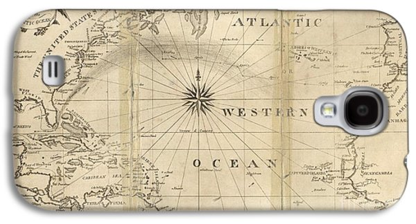 African-american Galaxy S4 Cases - Chart Of The Atlantic Ocean, 1802 Galaxy S4 Case by United States Naval Observatory