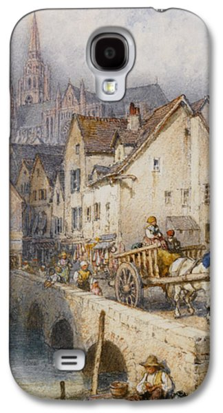 Horse And Cart Digital Art Galaxy S4 Cases - Charters Galaxy S4 Case by Myles Birket Foster