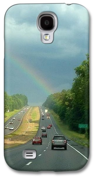 Landscape Acrylic Prints Galaxy S4 Cases - Chasing the Rainbow Galaxy S4 Case by M West