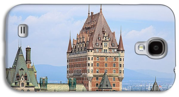 Quebec Galaxy S4 Cases - Chateau Frontenac Quebec City Canada Galaxy S4 Case by Edward Fielding