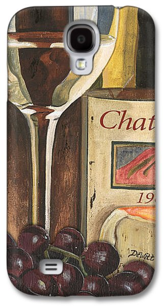 Wine-glass Paintings Galaxy S4 Cases - Chateux 1965 Galaxy S4 Case by Debbie DeWitt
