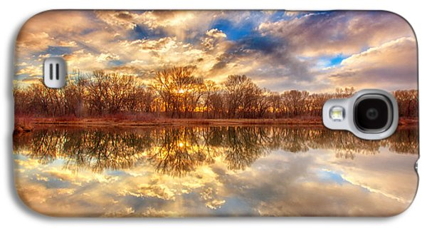 Landscape Acrylic Prints Galaxy S4 Cases - Chatfield Sunrise Galaxy S4 Case by Darren  White